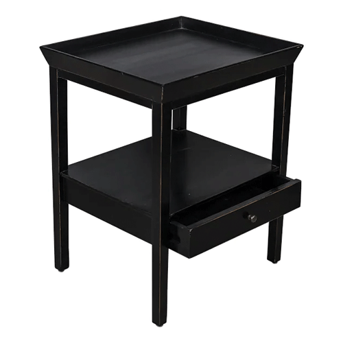 San Diego Black Bedside Table