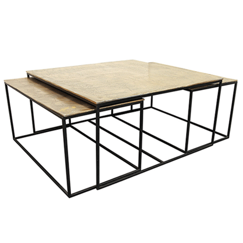 Vicchy Solid Oak 2 Drawer Coffee Table