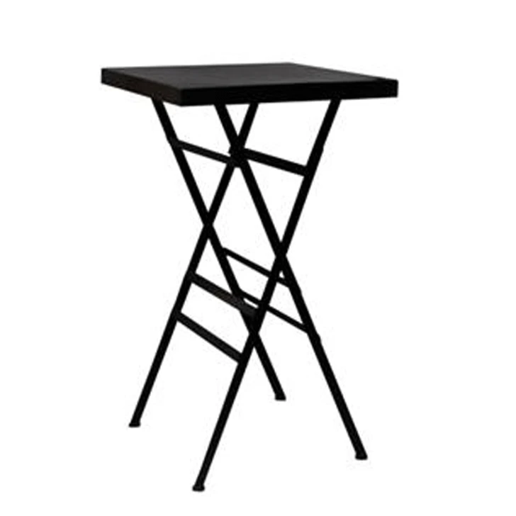 Square Black Iron Folding Table