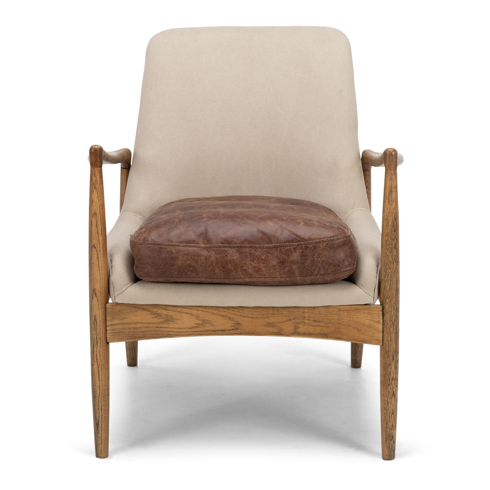 Stein Armchair - Oak with Cement Canvas