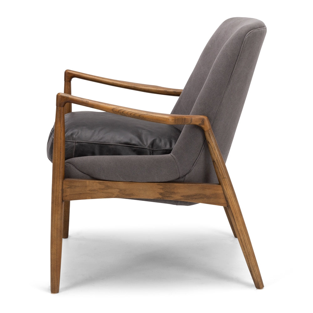 Stein Armchair - Oak with Charcoal Canvas