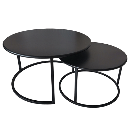 Trang Black Nest of 2 Coffee Tables