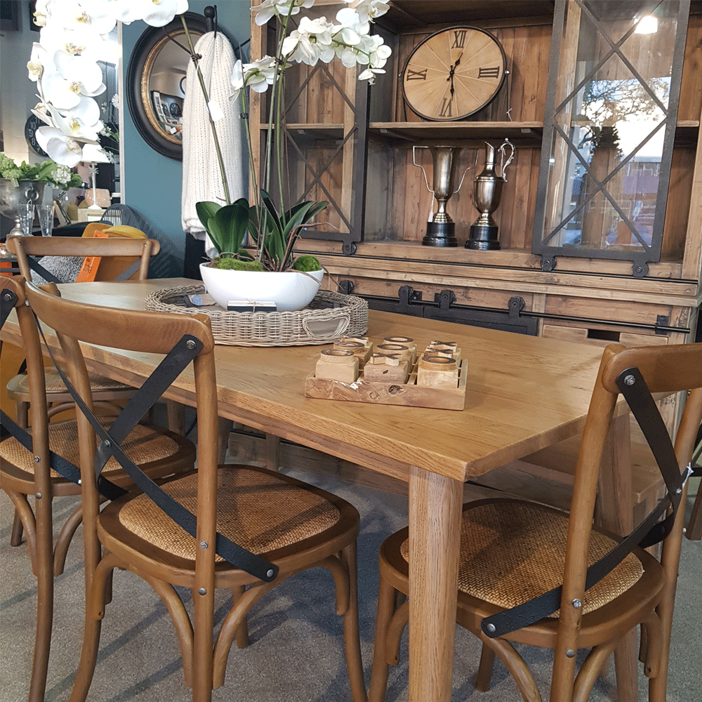 Vicchy Solid Oak Dining Table - 1800