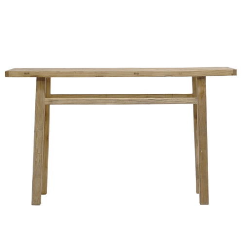 Salvaged Elm Bench Console Table - Long