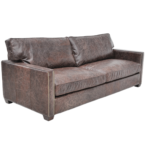 Halo Viscount William Leather 2 Seater Sofa - Biker Tan