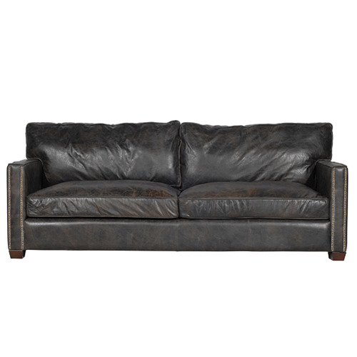 Halo Viscount William Leather 2 Seater Sofa - Old Glove Espresso