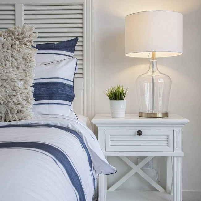 West Beach White Headboard with Shutters - King