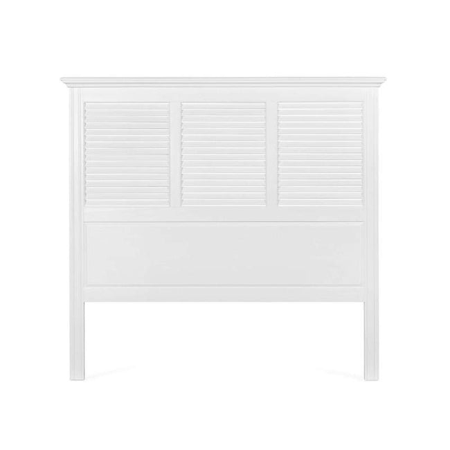 West Beach White Headboard with Shutters - Queen