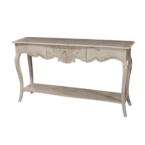 Paris Solid Oak with Verdigris Entrance Table