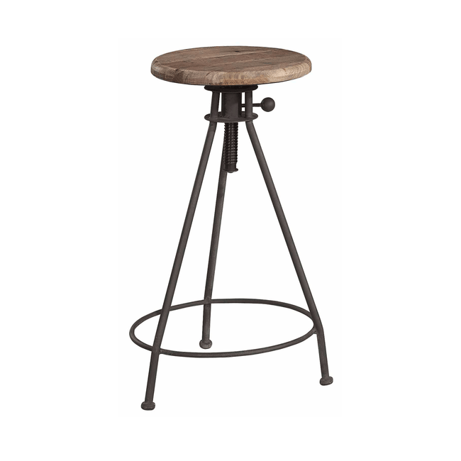 Artwood Elmwood Elm and Iron Wind Up Stool
