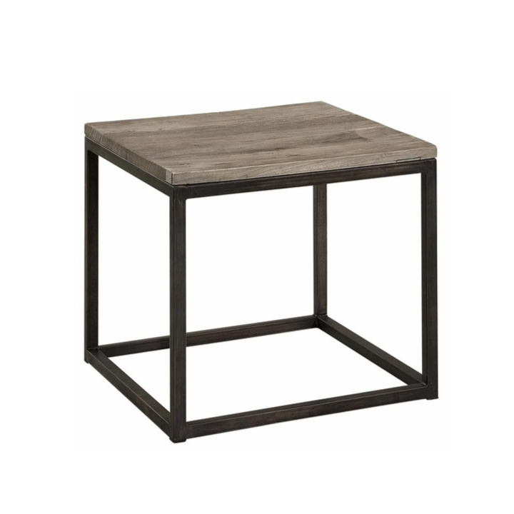 Artwood Elmwood Elm and Iron Side Table