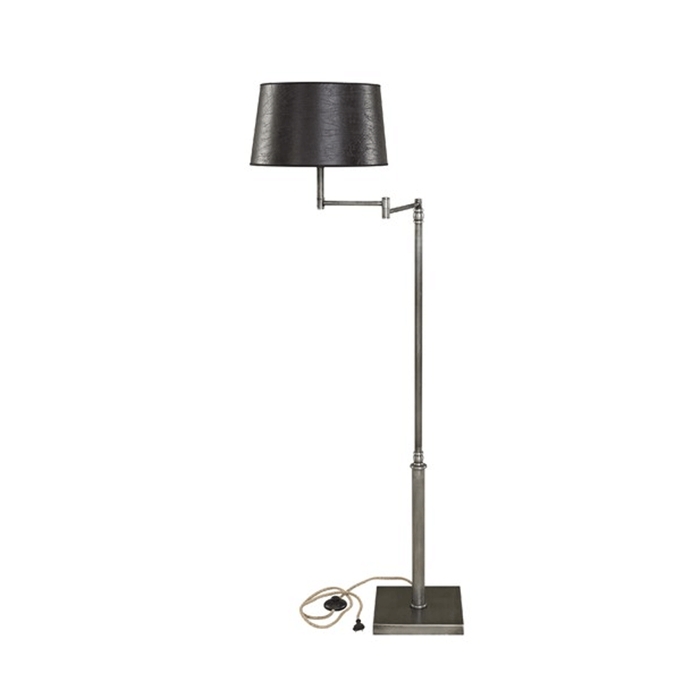 Artwood Pewter Swing Floor Lamp