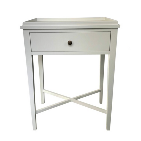 Cosmo 3 Drawer Bedside Table White - NZ Made