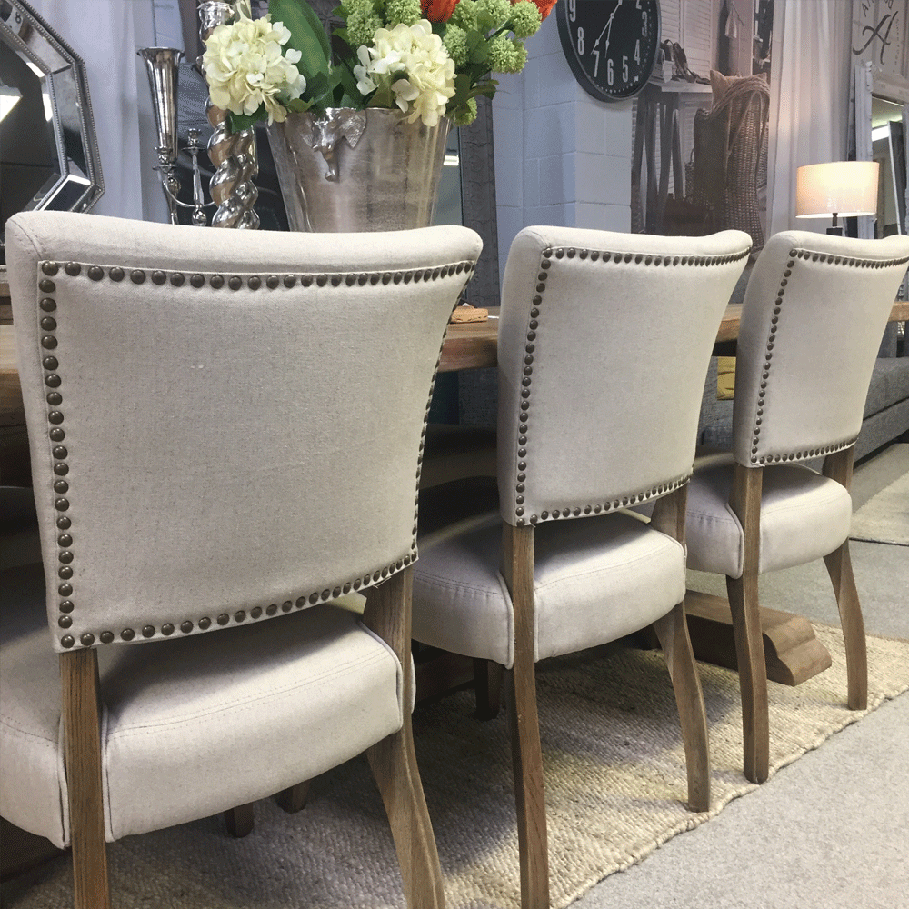 Crane Linen Upholstered Dining Chair
