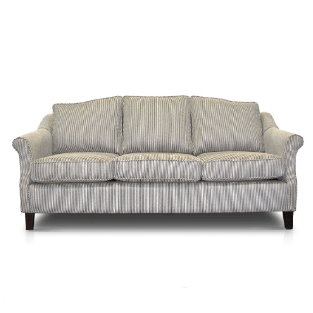 esteme three seater sofa couch in light fabric