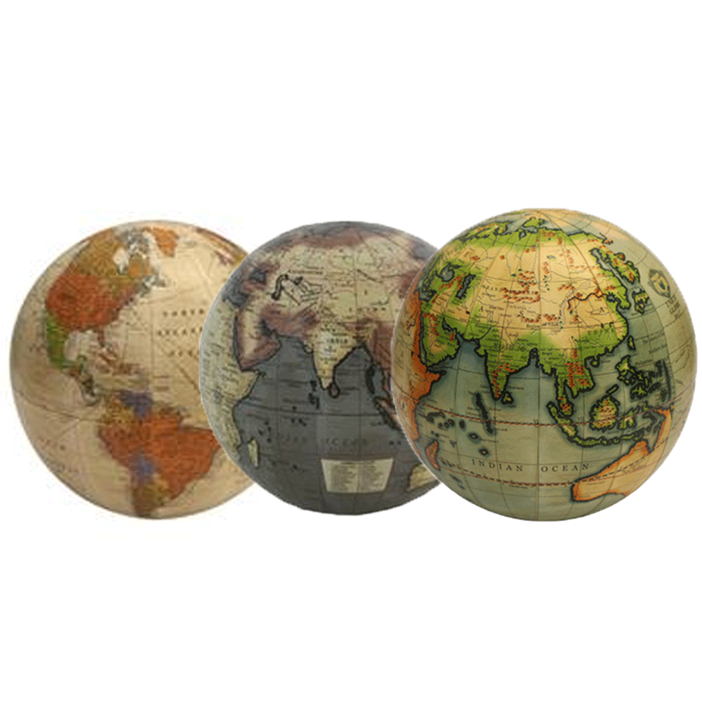 Globes - Three Sizes & Colours