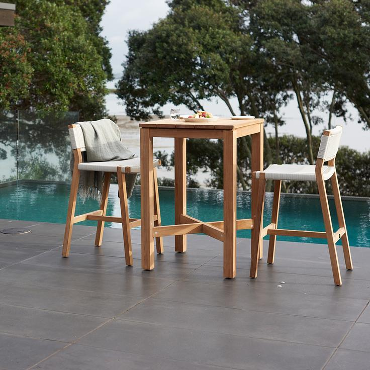 Devon Haast Teak Outdoor Bar Leaner Table - 700