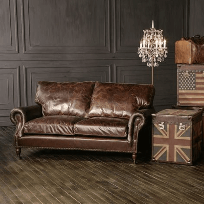 Halo Balmoral Leather 2 Seater Sofa