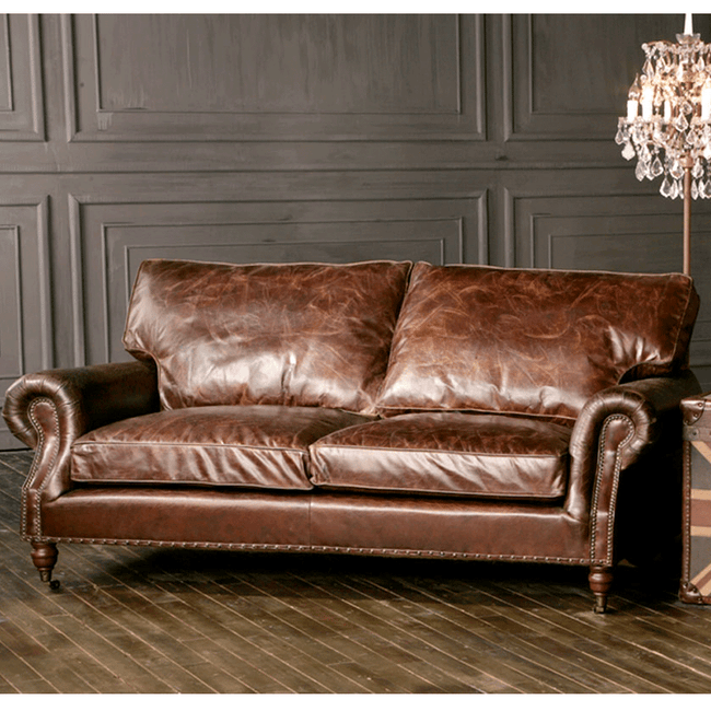 Halo Balmoral Leather 3 Seater Sofa
