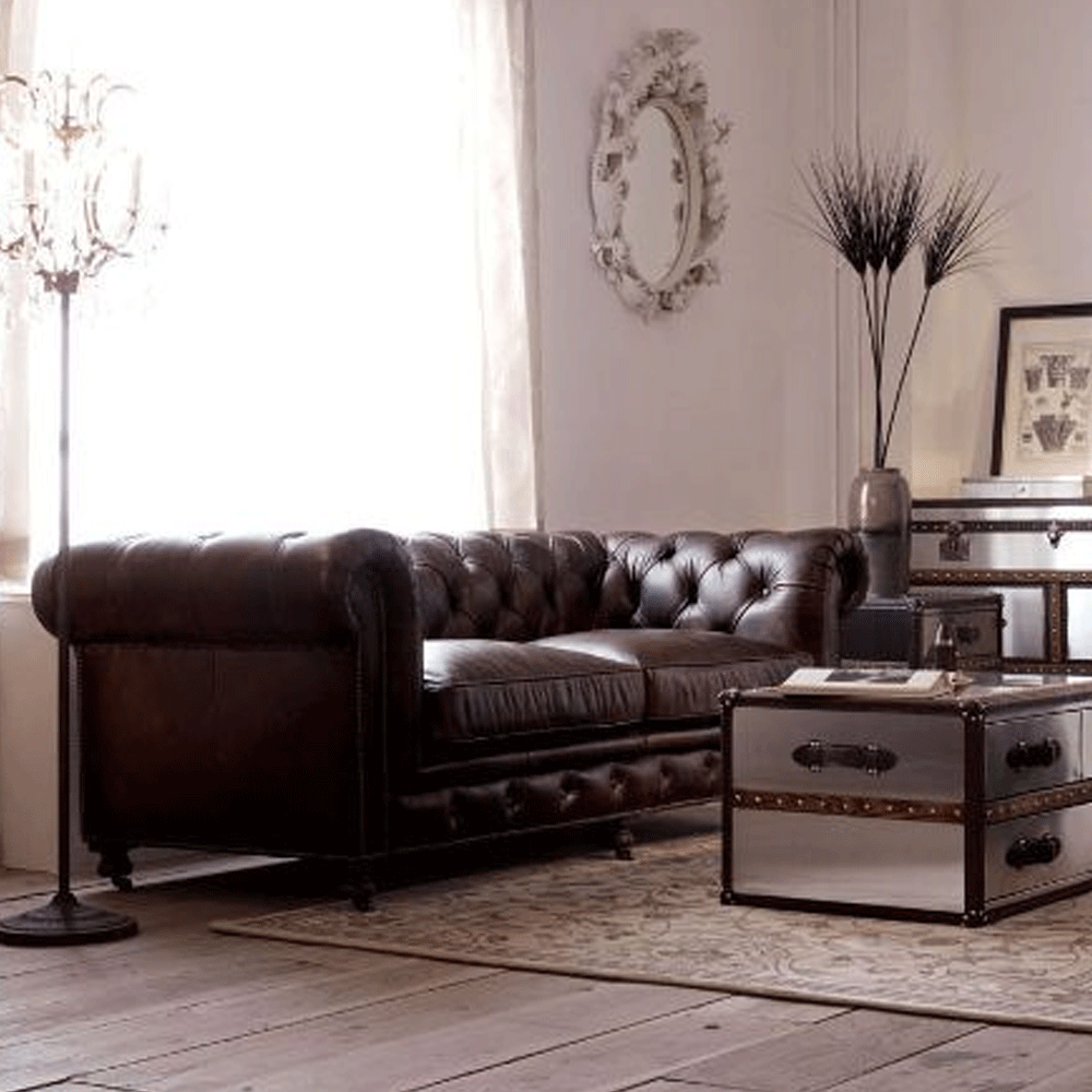 Halo  Kensington Leather Chesterfield 2 Seater Sofa
