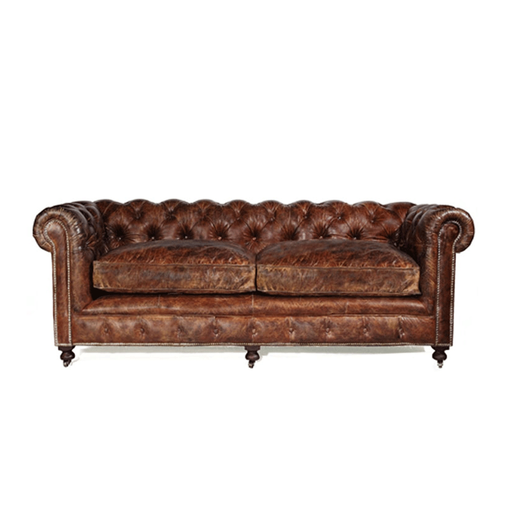 halo kensington 2 seater sofa leather