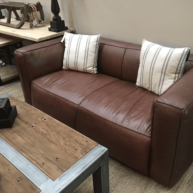 HALO Tribeca High Back Leather 2 Seater Sofa