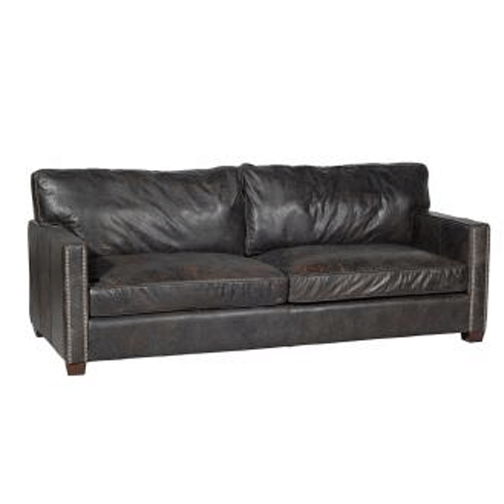 halo viscount william 2 seater sofa in leather