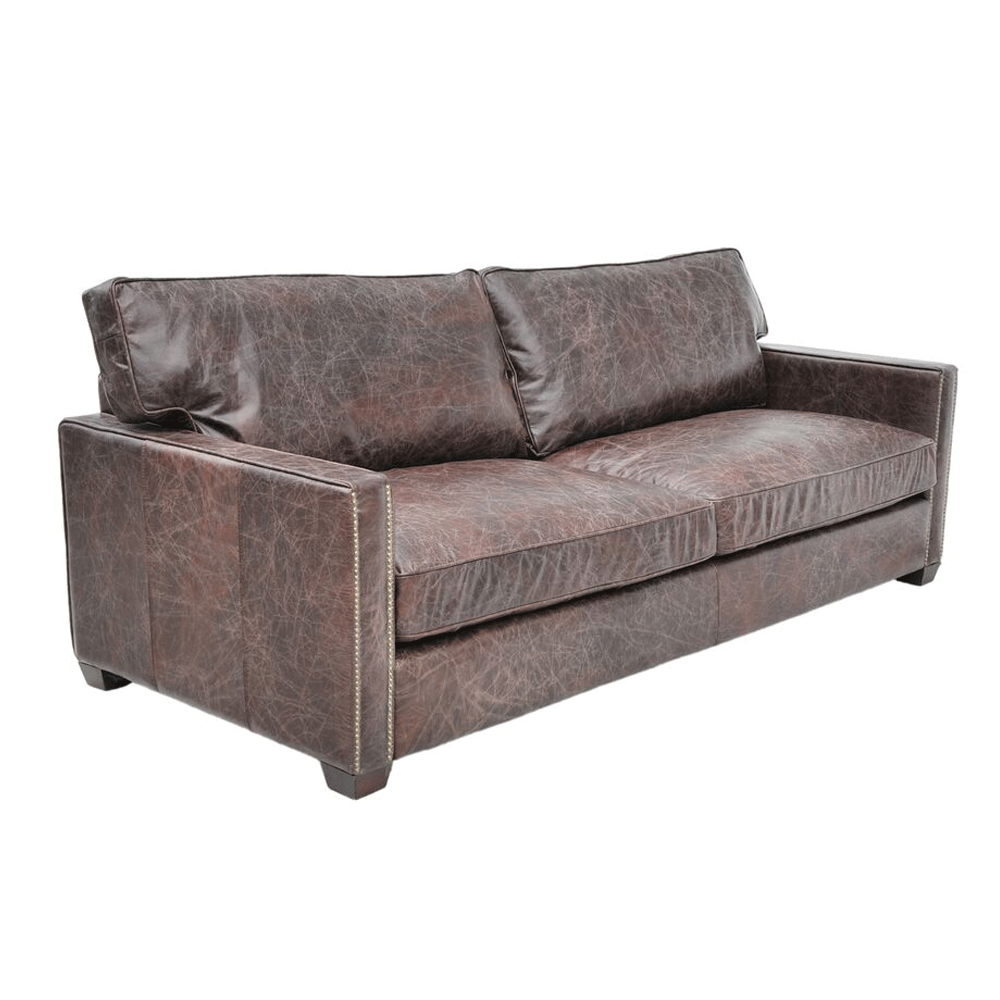 halo viscount william 3 seater  sofa in leather