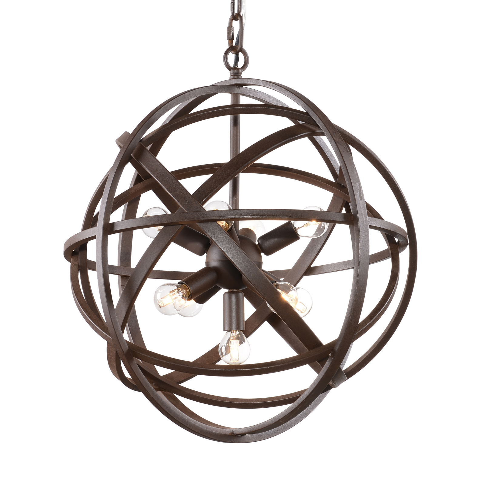 halo nest pendant light in Rouille (Coated Rust)