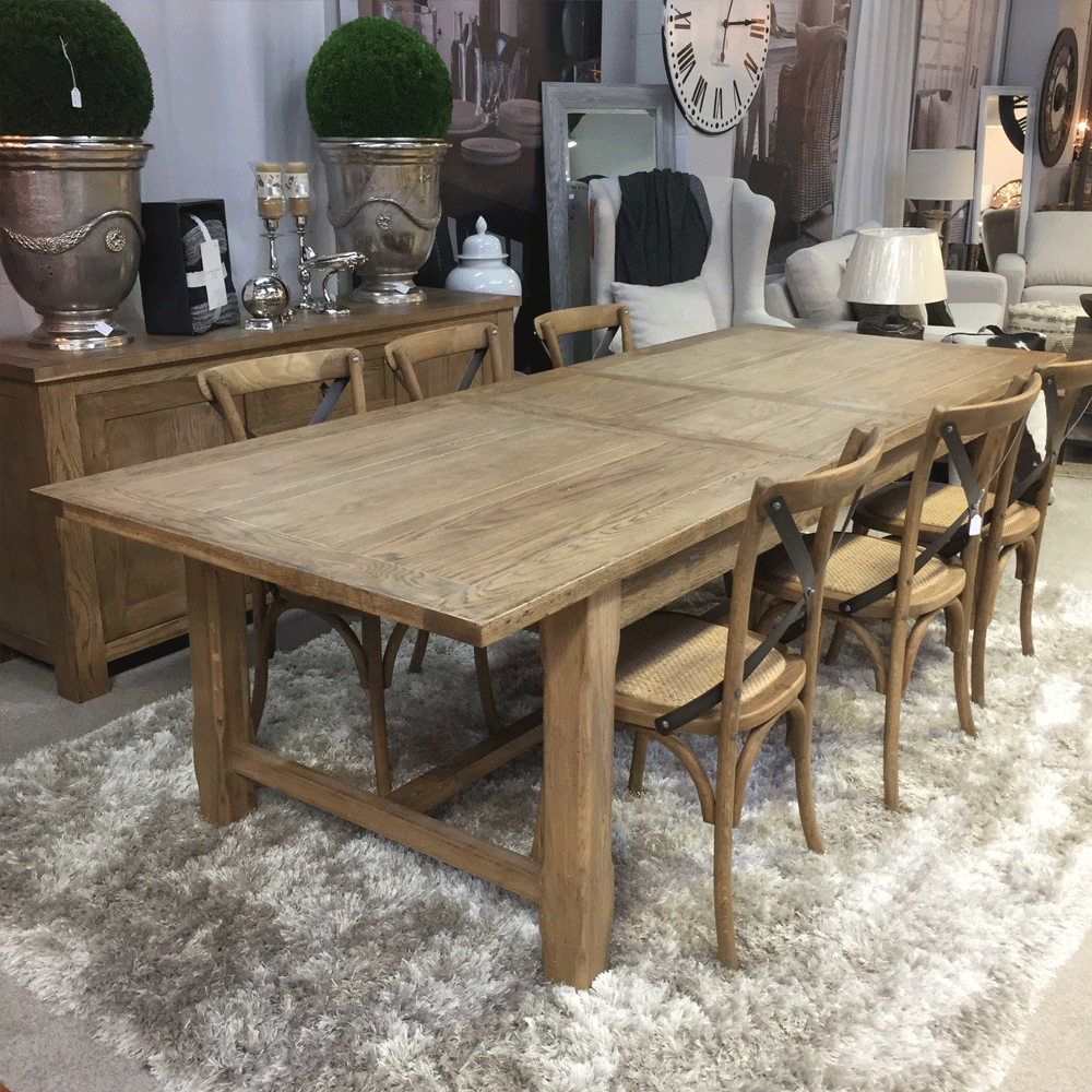 Hartley Double Extension Dining Table - 2100/3100