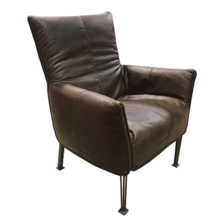 Leather Couches New Zealand: Hugo Steel Chair - NZ Made