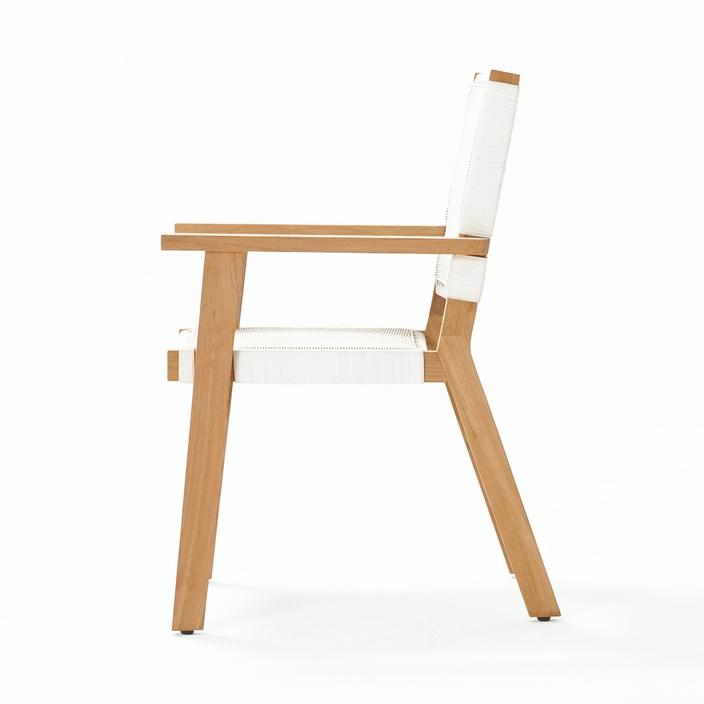 Devon Jackson Outdoor Carver Dining Chair - White Wash
