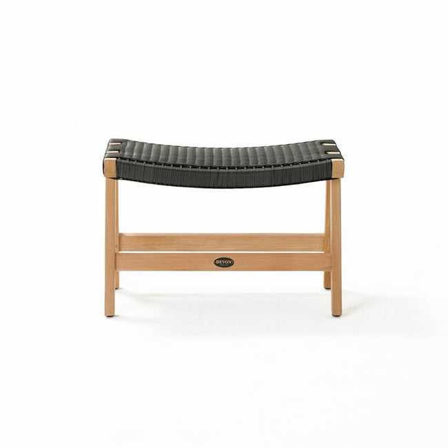 Devon Jackson Outdoor Footstool - Shadow Grey