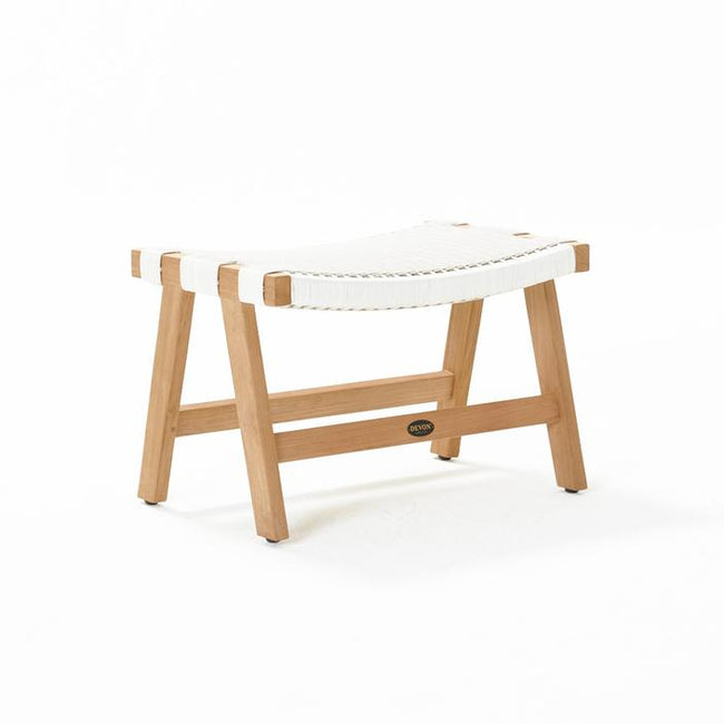 Devon Jackson Outdoor Footstool - White Wash
