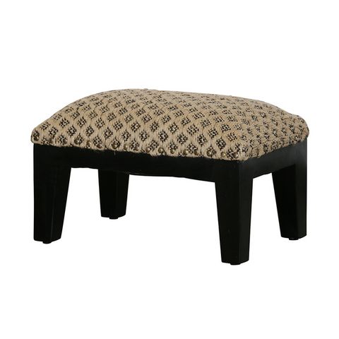 Turkish Leather Pouffe Footstool