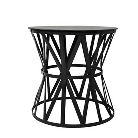 Iron Round 2 Tiered Side Table