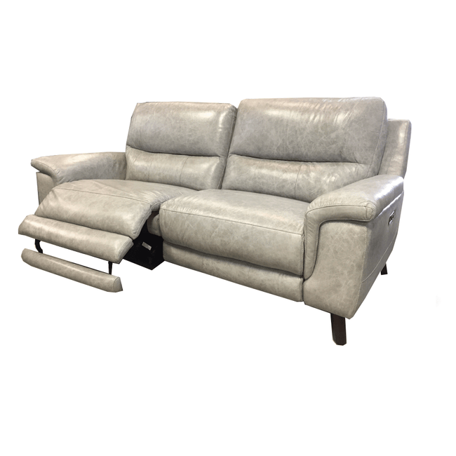 Lily 3 Seater Electric Recliner Sofa - Leather