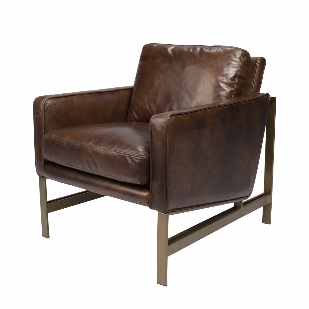 master armchair brown leather