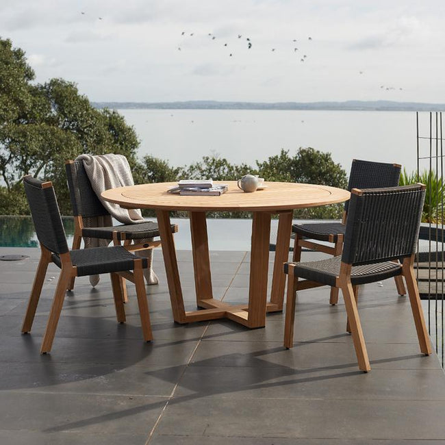 Devon Pegasus Teak Outdoor Round Dining Table - 1500