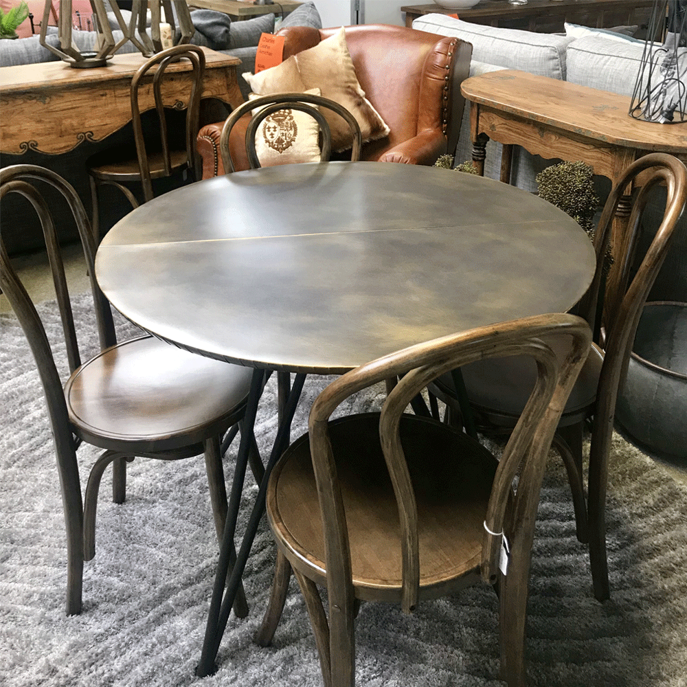 Rivet Round Dining Table