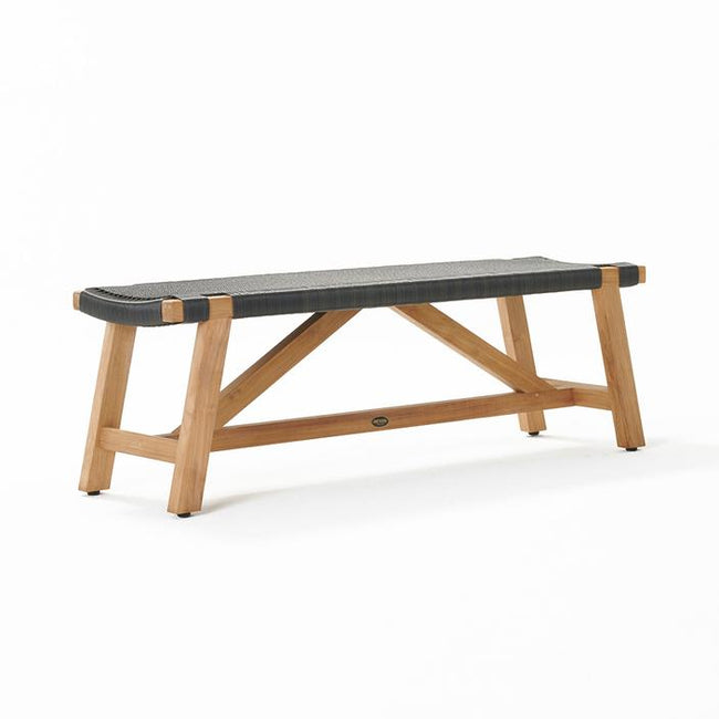 Devon Sawyer Teak Outdoor Bench Seat - Shadow Grey