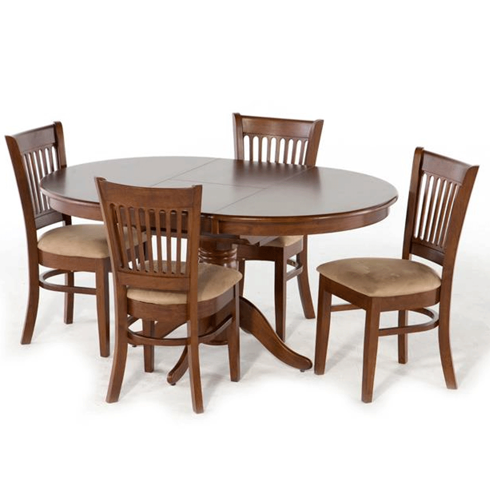 berkley 5 piece dining setting with extension dining table