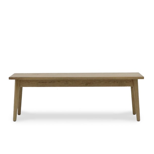 Vicchy Solid Oak Bench Seat - 150cm