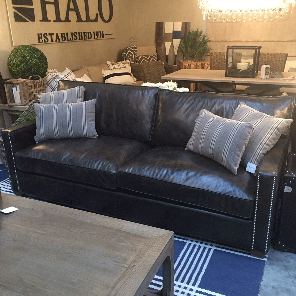 Halo Viscount William Leather 2 Seater Sofa