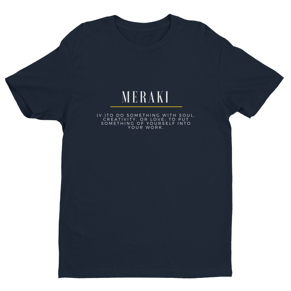 Meraki Original Tee V2 - Midnight Navy - Raki Life