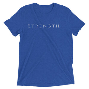 Only Strength Tee - True Royal Triblend - Raki Life