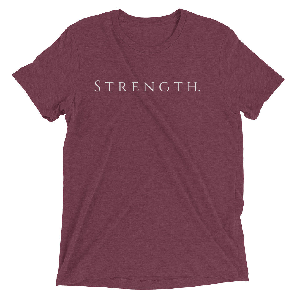 Only Strength Tee - Maroon Triblend - Raki Life