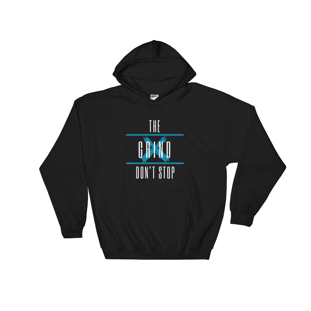 The Grind Don't Stop Hoodie (Blue) - S - Raki Life