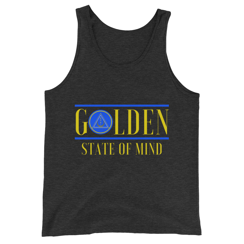 Golden State of Mind Tanktop - Charcoal-black Triblend - Raki Life