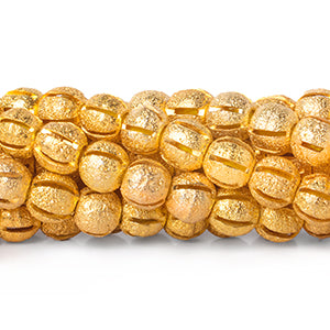22kt Gold Plated Brass Beads